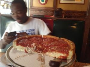 La pizza di Giordano's è stato un ottimo carburante. E anche James, a modo suo, mi ha spronato!
