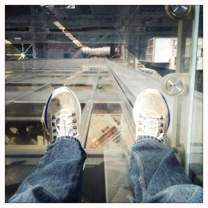Skydeck, with my toes on the air it's such a lovely view
