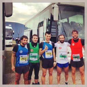 Da sinistra il Mascetti, il Perozzi, il Sassaroli, il Melandri e il Necchi