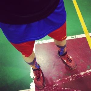 Colori in serie imbarazzanti. E si notano poco le calze, Jordan brand...